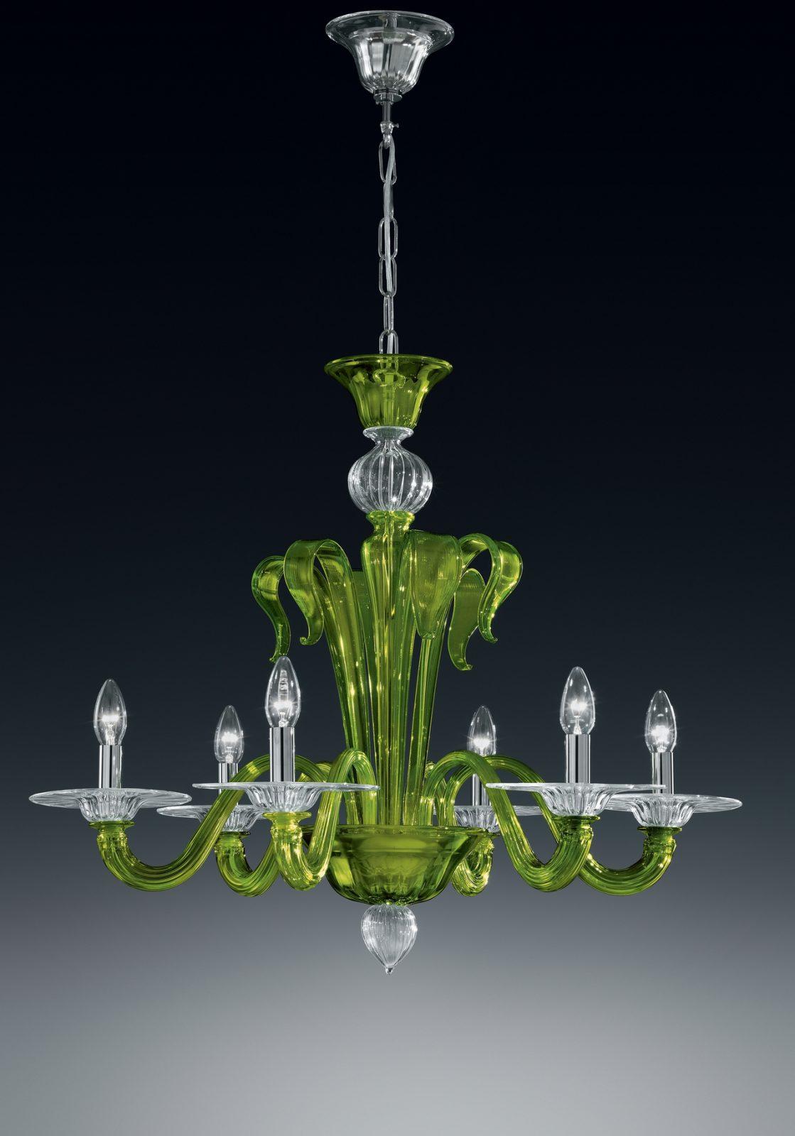 Per ogni lampadario murano si possono abbinare le applique, le lampade da tavolo e flambeaux in vetro di murano. Lampadario 6 Luci 924 6 I Colorati Vetro Di Murano Vetrilamp