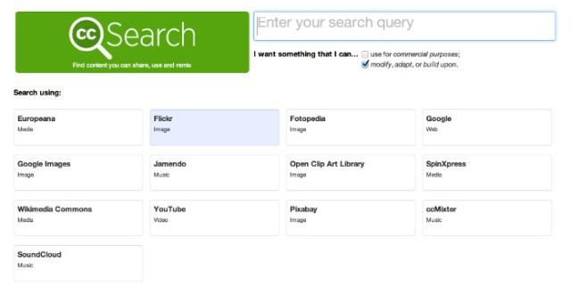 cc search per le nostre immagini senza copyright
