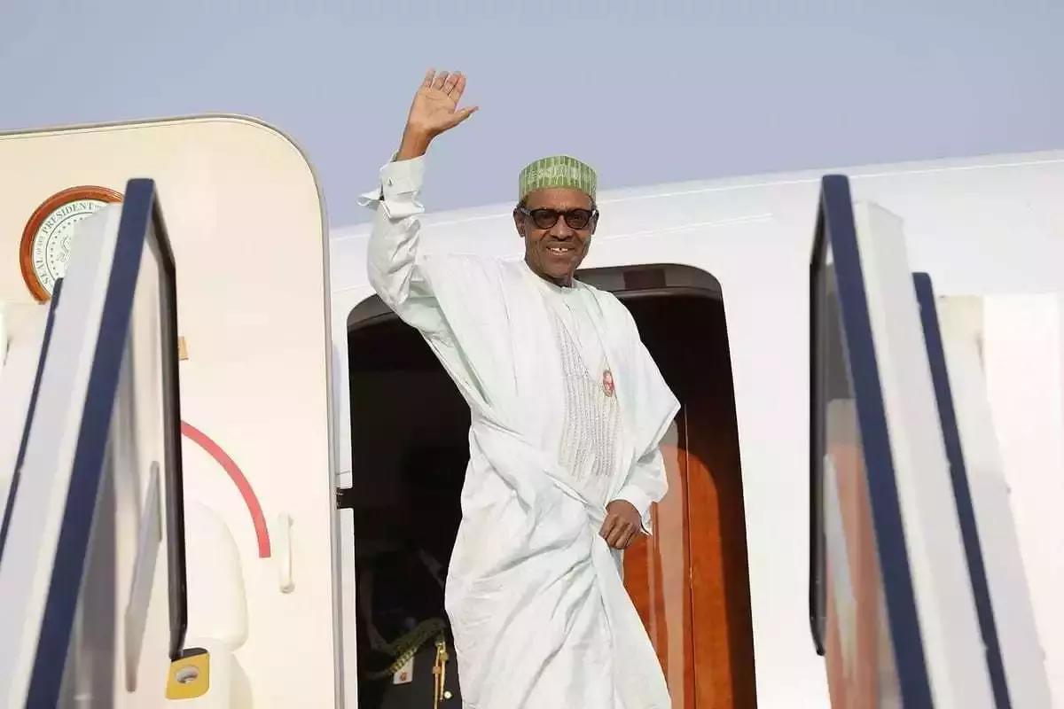 Image result for Buhari departs nigeria