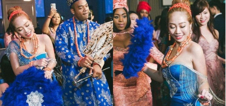 Lovely Photos from a Nigerian Man's wedding to a Taiwanese Lady