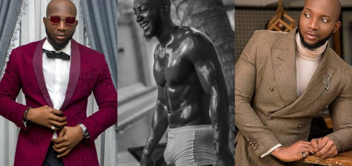 #BBNaija: 'Be comfortable in your own skin, Don't be afraid to shine' - Tuoyo says as he shows off his abs