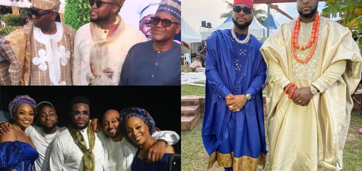 Davido Storms Brother, Adewale Adeleke's Wedding In Calabar; Dangote Spotted