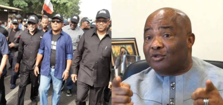 'PDP's protest in Abuja was an attempt to take over Buhari's govt' - Imo gov Hope Uzodinma says, alleges plot to impeach him
