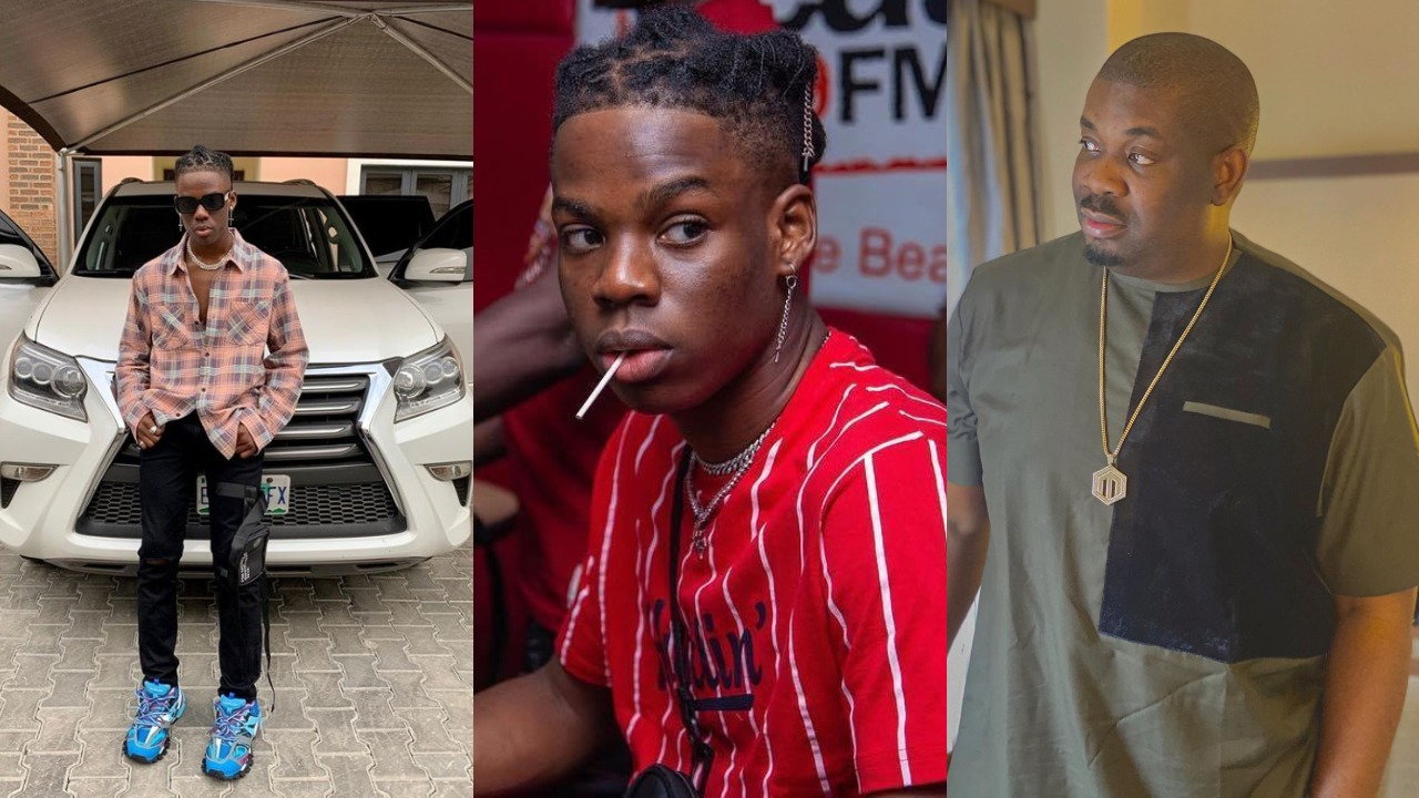 Rema shows off his expensive car; Don Jazzy reacts
