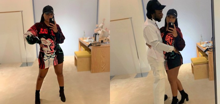 Burna Boy & his girlfriend Stefflon Don look nice in new loved-up Photos