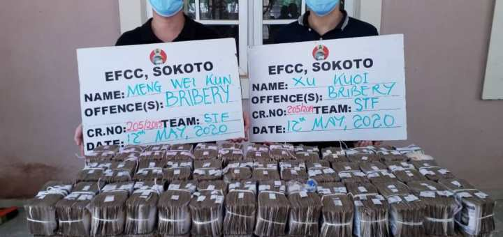 EFCC arrests two Chinese for offering N100m bribe to its top officer (Photos)