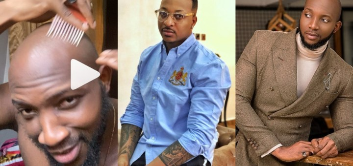 Reality star, Tuoyo says he desperately needs to have some hair on his bald hair, begs IK Ogbonna for tips