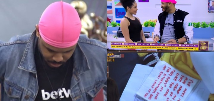 #BBNaija 2020: Big Brother issues Ozo a Strike for Writing Letter to Nengi