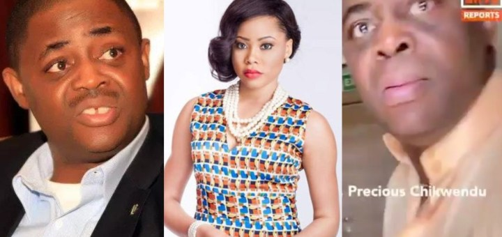 """""""Stop Abusing Me"""" - Video of Femi Fani-Kayode violently harassing his estranged wife, Precious goes viral, Fani Kayode reacts, reveals how he caught his wife in bed with a married man (Video)"""