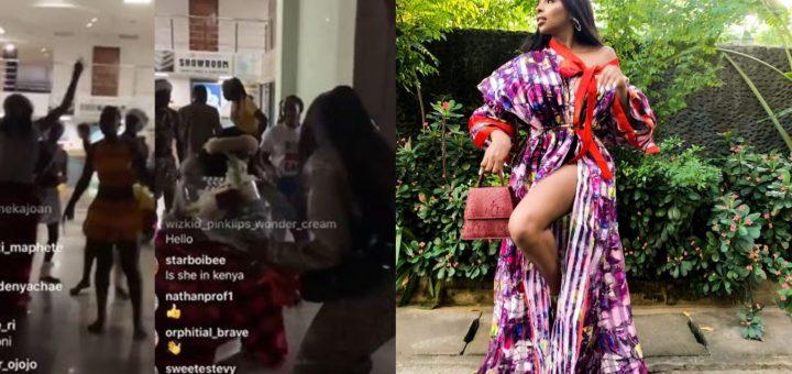 BBNaija Star Wathoni Given A Befitting Welcome In Kenya (Video)