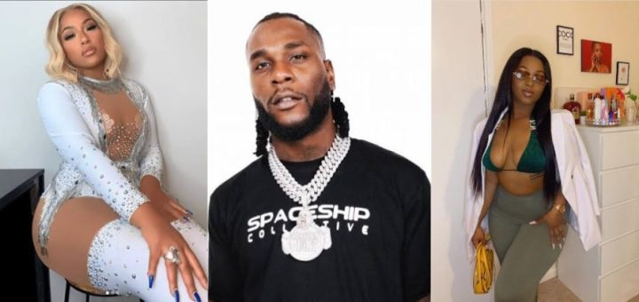 Burnaboy's Alleged Side Chick Drags His Girlfriend Stefllion Don After She Begs For Their Cheating Evidence
