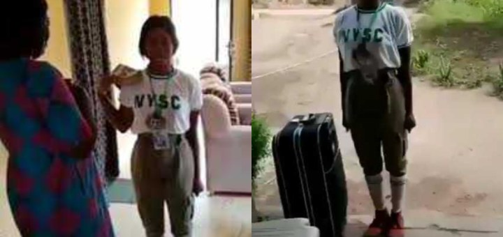 """""""Cheers to my mother for single-handedly raising me"""" - Corps Member moves mum to tears as she salutes her upon return from NYSC camp (Video)"""