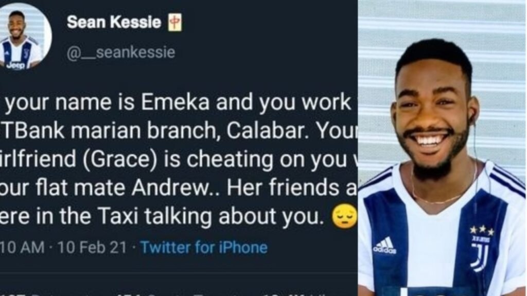 Cheating girlfriend busted after Twitter user tweeted about her conversation in a taxi