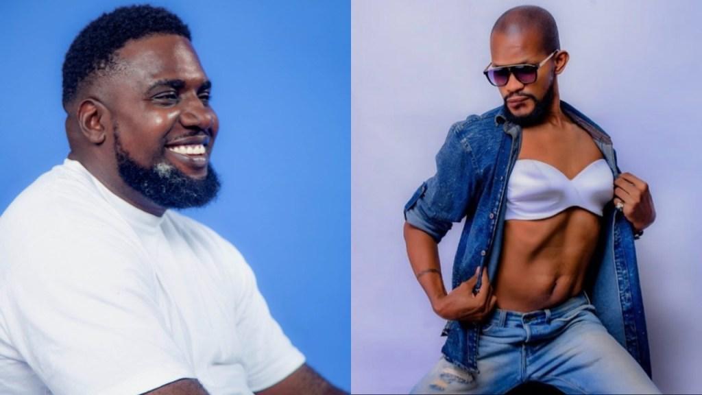 Singer Odogwu Nwobodo trolls Uche Maduagwu after he shared a new photo of himself wearing a bra
