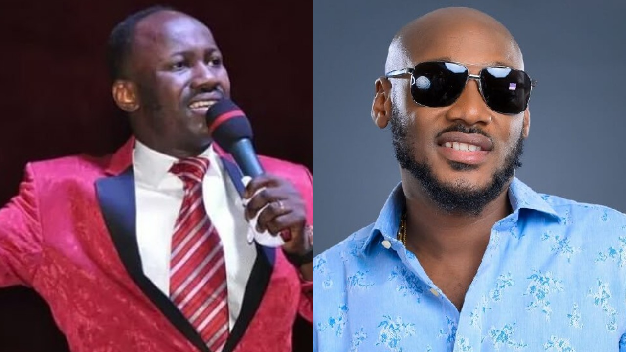 2face reacts days after Pastor Suleiman said he makes money through speaking in tongues (Videos)