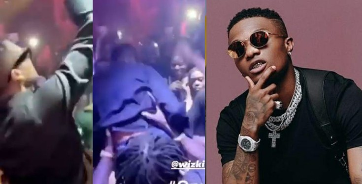 Watch Moment Wizkid Was Carried Shoulder-High Inside A Club (Video)