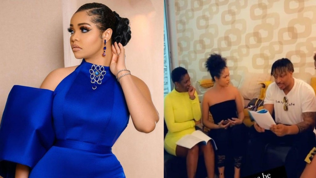 """I'm Learning From The Best"" - Nengi Says As She Is Spotted On Set With IK Ogbonna, Annie Idibia, Others For A New Movie (Video)"