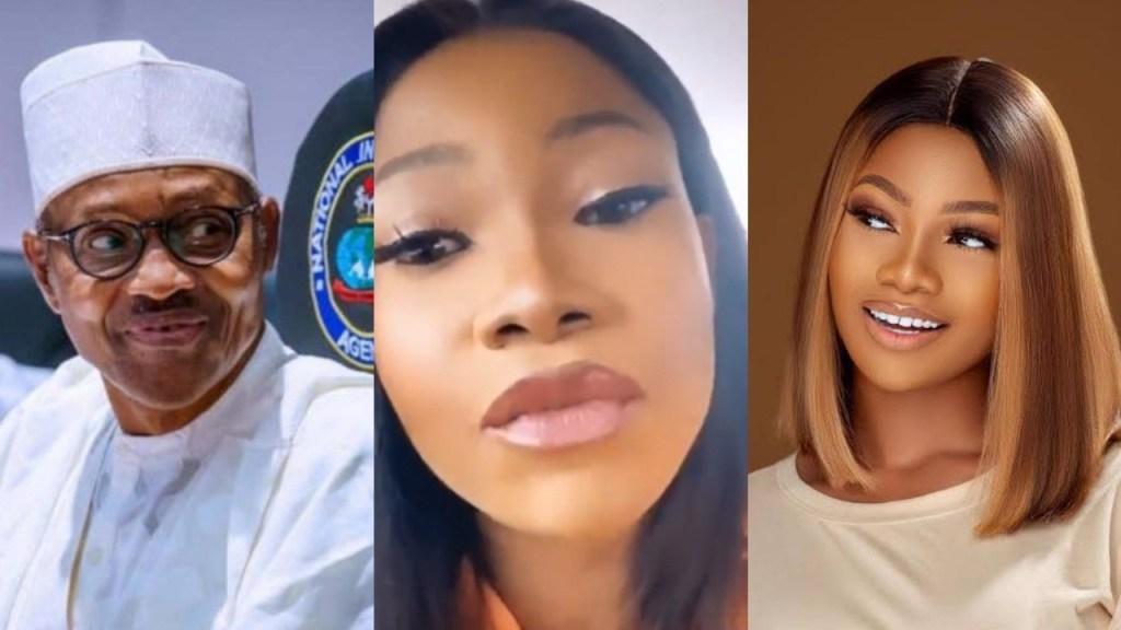 "Buhari is not going anywhere - BBNaija star Tacha berates Nigerians trending ""Buhari must go"" online (Video)"