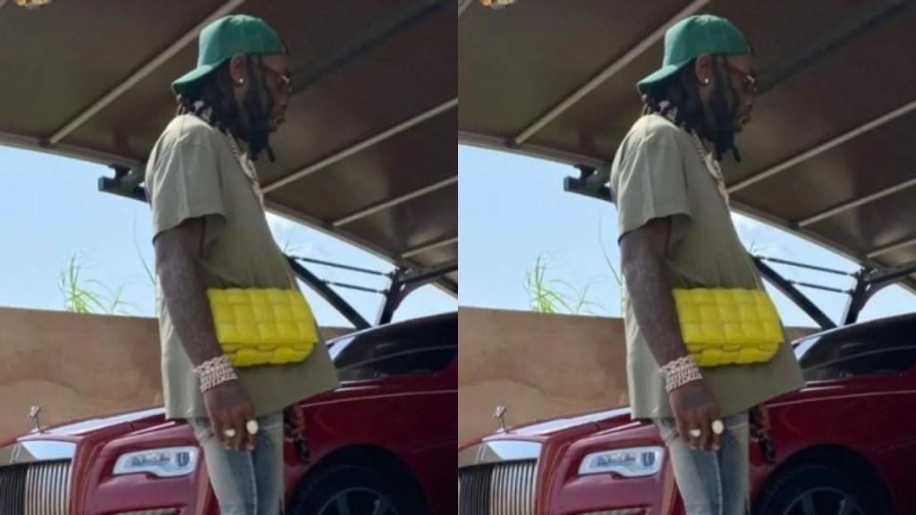 No Be Stefflon's Bag Burna Boy Hang for Shoulder? - Fans Mock Burna Boy's Handbag