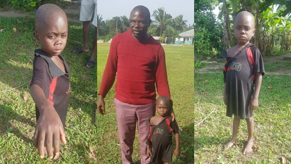 """""""My mother locked me up in the toilet"""" - 5-year-old boy accused of witchcraft in Akwa Ibom state narrates his ordeal"""