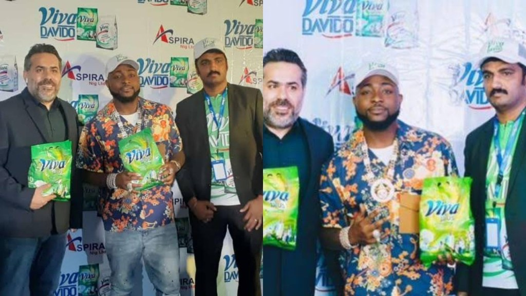 Reactions as Davido bags a new partnership deal with a detergent producing company (Photos)