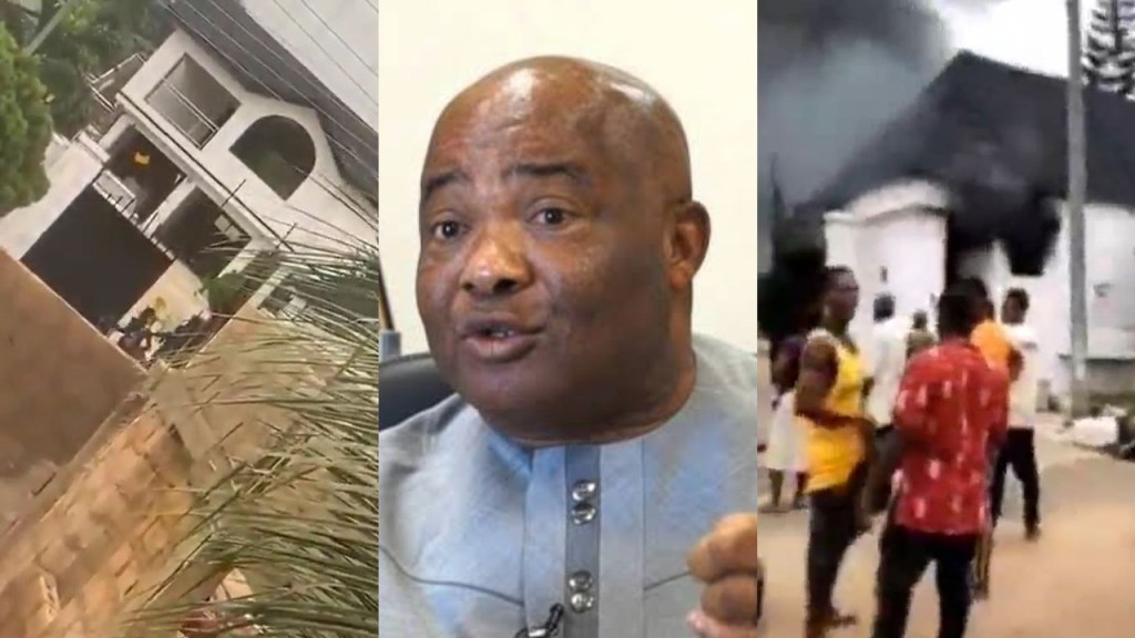 Gunmen set Governor Hope Uzodinma's country home ablaze, kill two of his security aides (Videos)