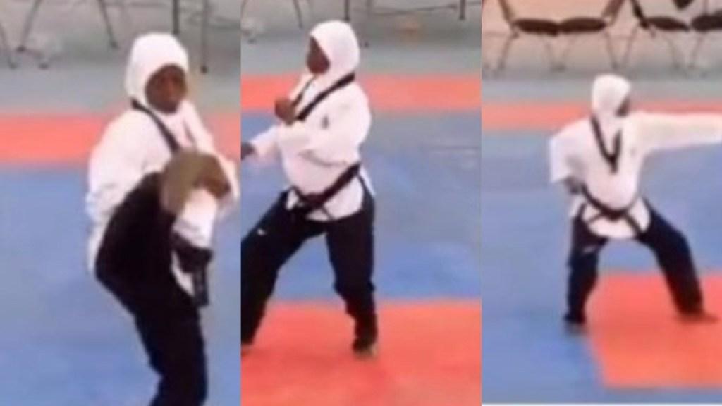 Heavily pregnant athlete wins gold medal in Taekwomdo at Edo 2020 (Video)