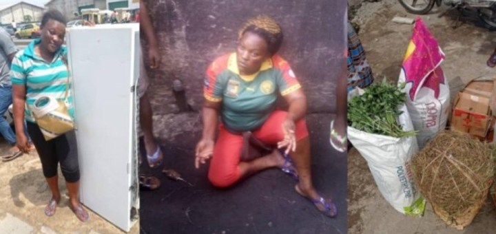 Woman receives refrigerator food items cash to start a business after she was caught and humiliated by angry mob for stealing spices