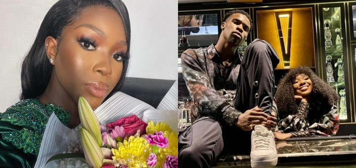 """""""A supportive man!"""" - BBNaija's Vee shows off the flowers and note Neo sent to her as she prepares for first hosting gig"""