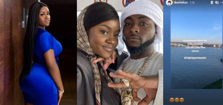 Davido's babymama Chioma begins house hunting weeks after split from the singer (Video)