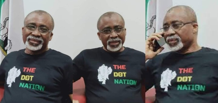 Abaribe wears a 'dot nation' t-shirt after President Buhari's comment