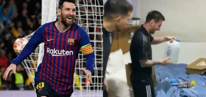 Lionel Messi receives ''funny gifts' including ''holy water'' from his Argentina Teammates on his 34th Birthday (Video)