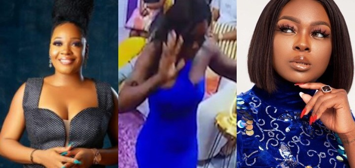 Moment Ka3na broke down in tears and walked out while having a hot argument with her former best-friend, Lucy. (Video)