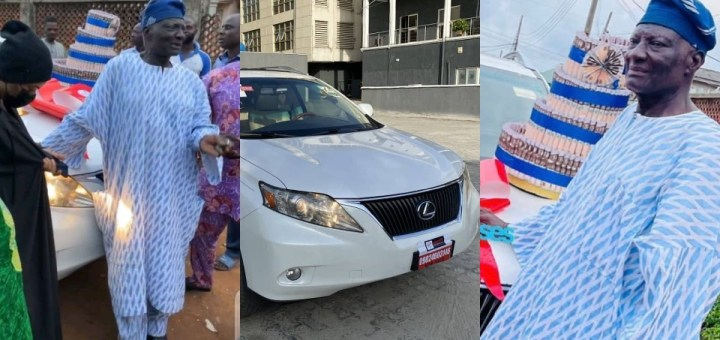 Bobrisky buys his Father a brand new Lexus SUV to celebrate his Birthday