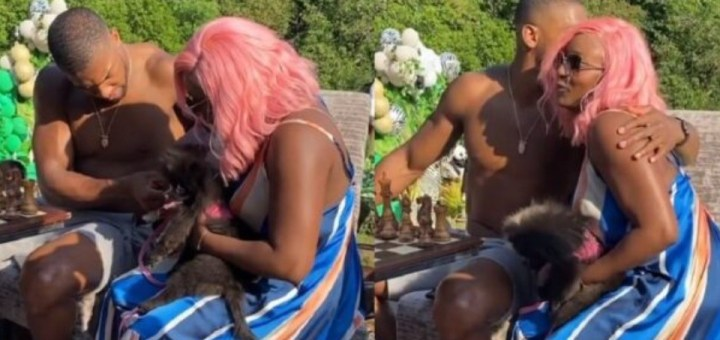 """""""Should we be expecting a pink wedding?"""" - Nigerians react to new video of DJ Cuppy and Anthony Joshua"""