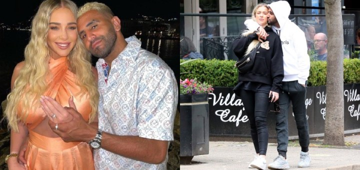 Manchester City star, Riyad Mahrez proposes to his 23-year-old girlfriend with customised £400,000 Ring (Photos)