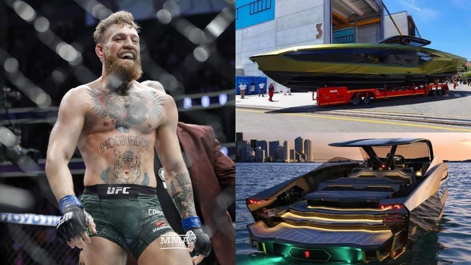 UFC star, Conor McGregor buys £2.6m Lamborghini yacht after Dustin Poirier defeat (Photo)