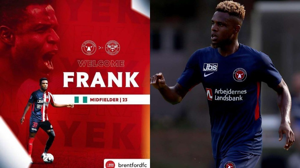 TRANSFER NEWS: Nigerian Midfielder, Frank Onyeka joins Premier league side Brentford on five-year deal