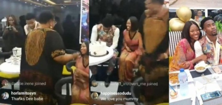 Moment Neo's mom asked Vee to sit next to her son at his birthday dinner (Video)