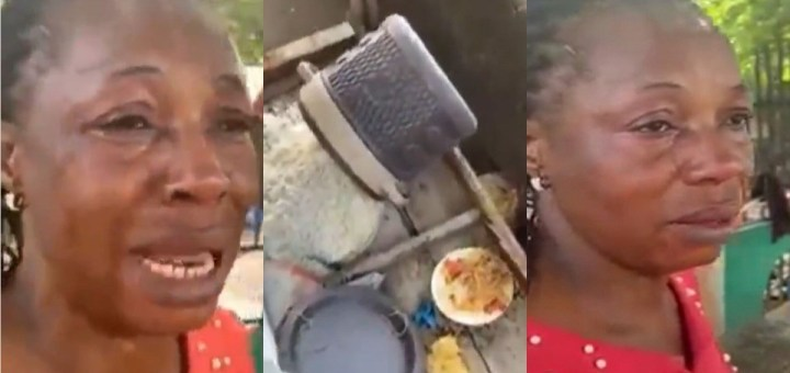 Food vendor cries bitterly after Ebonyi Commissioner allegedly disposed her coolers of food