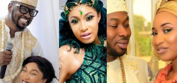 """""""You are talking nonsense"""" - Tonto Dikeh blasts lady who accused her of misleading women after her failed marriage to Olakunle Churchill"""