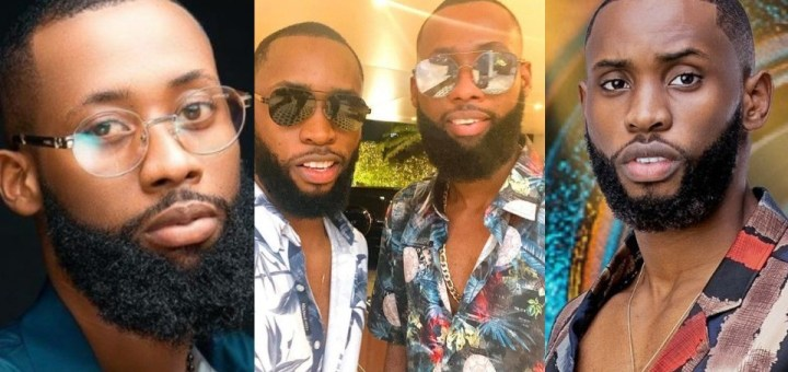 """#BBNaija 2021: """"Are they related?"""" - Reactions as Tochi shares a photo of himself with Emmanuel"""