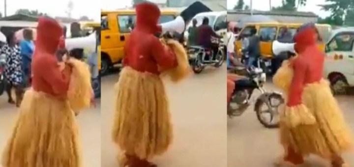 Masquerade seen preaching the gospel of Jesus Christ (Video)