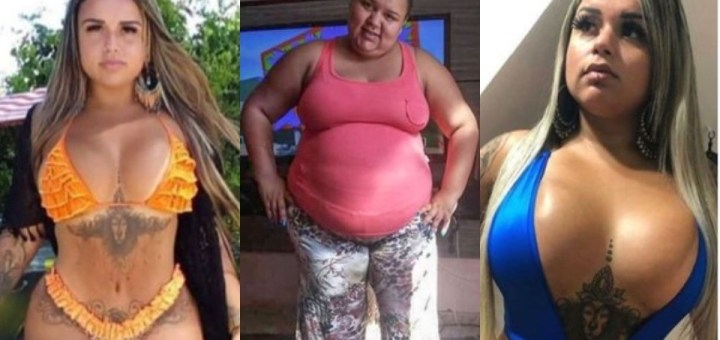 Lady stuns the internet with photos of her unbelievable transformation
