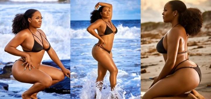 BBNaija star, Lucy puts banging body on display in Bikini Photos
