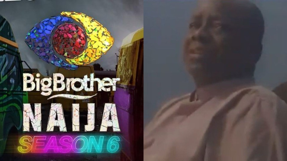 Nigerian dad chases his daughter out of the parlour after seeing explicit scenes while watching #BBNaija (Video)