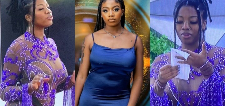 #BBNaija 2021: Angel's father applauds her see-through outfit (Photos)