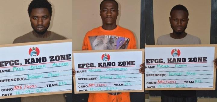 Three internet fraudsters convicted in Katsina state