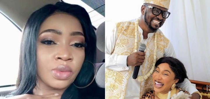 """""""Keep your relationship private till you're sure of the man una no go hear"""" - Lady Golfer shades Tonto Dikeh over lover's alleged cheating saga"""