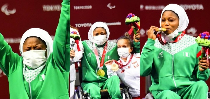 Nigeria wins first gold at Tokyo Paralympics as Latifat Tijani defeats China's Zhe Cui in powerlifting